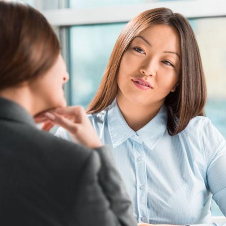 Asian woman conversation
